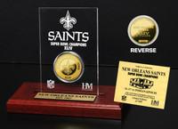 New Orlean Saints SB Champs Etched Acrylic
