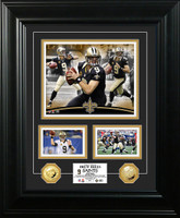 Drew Brees Marquee Gold Coin Photo Mint