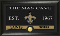 New Orleans Saints The Man Cave Bronze Coin Panoramic Photo Mint