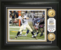 Drew Brees 400 Career Touchdown Passes Gold Coin Photo Mint