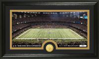 New Orleans Saints Stadium Bronze Coin Panoramic Photo Mint