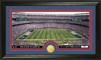 New York Giants Stadium Bronze Coin Panoramic Photo Mint