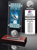 Super Bowl 21 Ticket & Game Coin Collection
