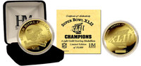 New York Giants 24KT Gold Super BowlxLII Champions Coin