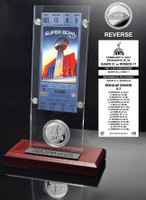 Super Bowl 46 Ticket & Game Coin Collection