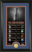 New York Islanders Legacy Supreme Bronze Coin Panoramic Photo Mint