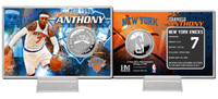 Carmelo Anthony Silver Coin Card