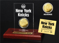 New York Knicks 24KT Gold Coin Etched Acrylic