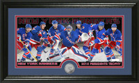 New York Rangers 2015 Presidents Trophy Minted Coin Panoramic Photo Mint