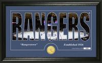 New York Rangers Silhouette Bronze Coin Panoramic Photo Mint