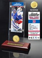 Henrick Lundqvist Ticket & Bronze Coin Acrylic Desk Top