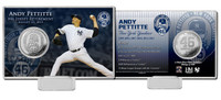 Andy Pettitte Retirement Day Silver Coin Card