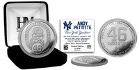 Andy Pettitte Retirement Day Silver Mint Coin