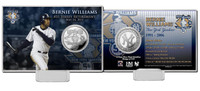 Bernie Williams Retirement Day Silver Coin Card