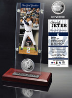 Derek Jeter Ticket and Minted Coin Desk Top Acrylic