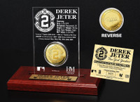 Derek Jeter Gold Coin Etched Acrylic