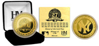 NY Yankees 27 World Series Titles 24KT Gold Coin