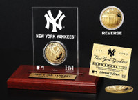 New York Yankees Gold Coin Etched Acrylic