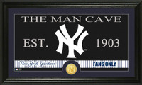 New York Yankees The Man Cave Bronze Coin Panoramic Photo Mint