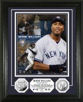 Bernie Williams Retirement Day Silver Coin Photo Mint