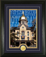 University of Notre Dame Campus Traditions Bronze Coin Photo Mint