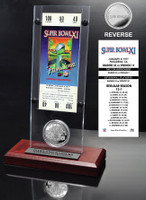 Super Bowl 11 Ticket & Game Coin Collection