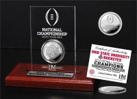 Ohio State Buckeyes 2014 College Football National Champions Silver Coin Etched Acrylic