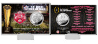 Ohio State Buckeyes 2014 College Football Champions Silver Coin Card