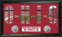 Ohio State Buckeyes Word Art Panoramic Minted Coin Photo Mint