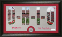 Ohio State Buckeyes Silhouette Minted Coin Panoramic Photo Mint