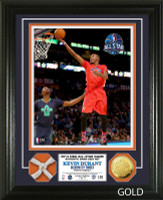 Kevin Durant 2014 All Star Game Game Used Net Gold Coin Photo Mint