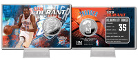 Kevin Durant Silver Coin Card