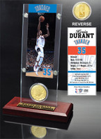 Kevin Durant Ticket and Bronze Coin Desktop Acrylic