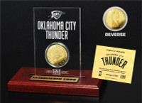 Oklahoma City Thunder 24KT Gold Coin Etched Acrylic