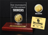 University of Oklahoma 24KT Gold Coin Etched Acrylic