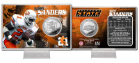 Barry Sanders Oklahoma State Minted Coin Card