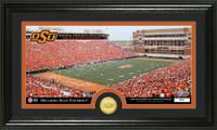 Oklahoma State University Stadium Bronze Coin Panoramic Photo Mint