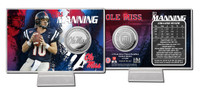 Eli Manning Ole Miss Silver Coin Card