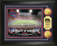 University of Mississippi Stadium Gold Coin Photo Mint