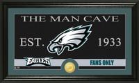 Philadelphia Eagles The Man Cave Bronze Coin Panoramic Photo Mint