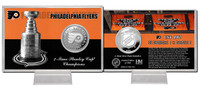 Philadelphia Flyers Stanley Cup History Silver Coin Card