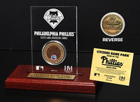 Citizens Bank Park Infield Dirt Coin Etched Acrylic