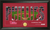 Philadelphia Phillies Silhouette Bronze Coin Panoramic Photo Mint