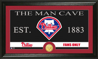 Philadelphia Phillies The Man Cave Bronze Coin Panoramic Photo Mint
