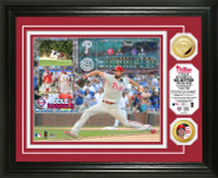 Cole Hamels No Hitter' Gold Coin Photo Mint