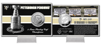Pittsburgh Penguins Stanley Cup History Silver Coin Card
