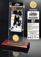 Sidney Crosby Ticket & Bronze Coin Acrylic Desk Top