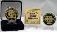 SuperbowlxL Champion 24 Kt Gold Overlay Coin