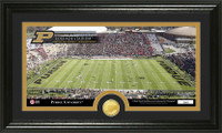 Purdue University Stadium Bronze Coin Panoramic Photo Mint