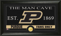 Purdue University Man Cave Bronze Coin Panoramic Photo Mint